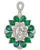 photo of pear cut emerald pendant