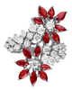 Photo of red marquise-cut ruby ring