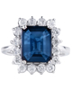 photo of radiant cut sapphire ring