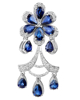 Photo of Pear cut Sapphire Pendant