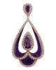 photo of amethyst pendant with enamel