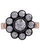 photo of antique diamond ring flower design