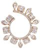 photo of baguette & pear cut diamond earrings