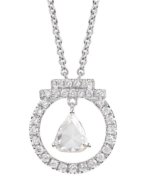 Photo of Rose cut diamond pendant