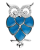 photo of blue enamel owl pendant