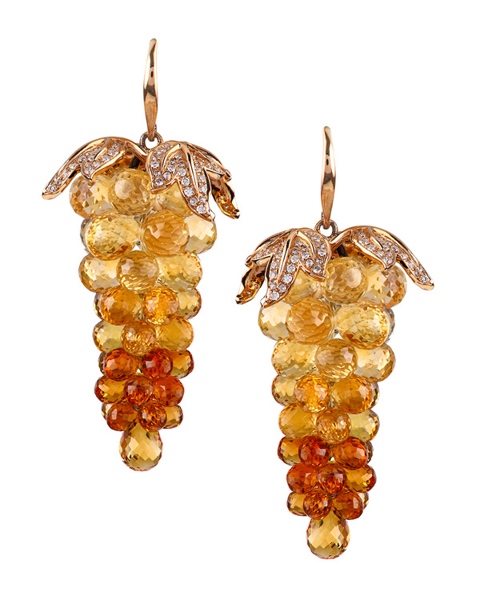 photo of citrine grapes earrings
