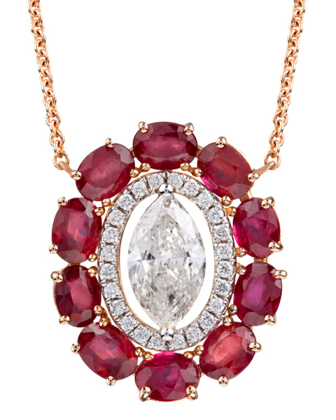 Photo of Oval cut ruby pendant