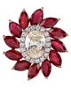 Photo of Marquise cut ruby pendant