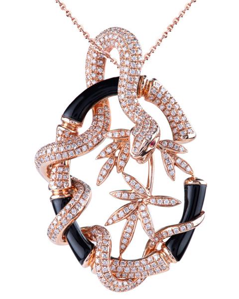 photo of diamond snake pendant