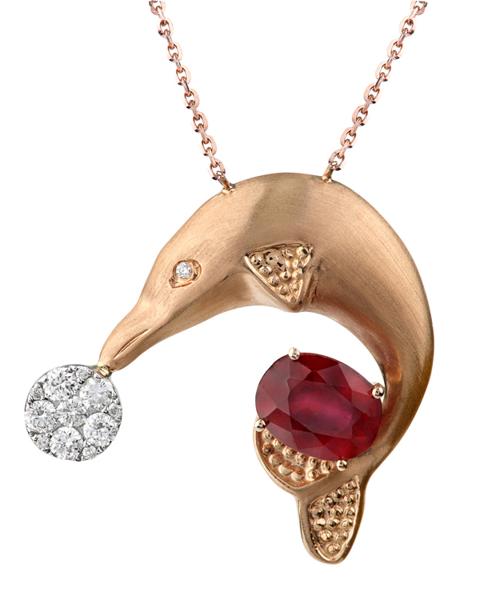 photo of dolphin pendant