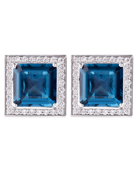 photo of London blue topaz cufflinks