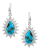 Photo of Pear Cut Turquoise Earrings