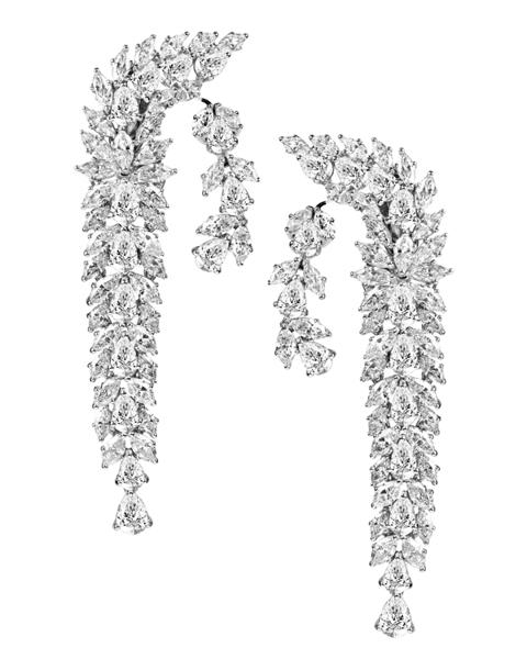 photo of marquise cut diamond earrings