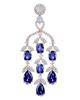 oval cut sapphire earrings