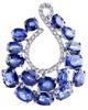 photo of oval cut sapphire pendant