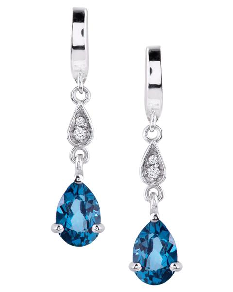 photo of pear cut topaz earrings