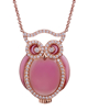 photo of pink enamel owl pendant
