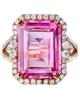 photo of pink sapphire ring