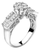 photo of princess & baguette cut diamond ring