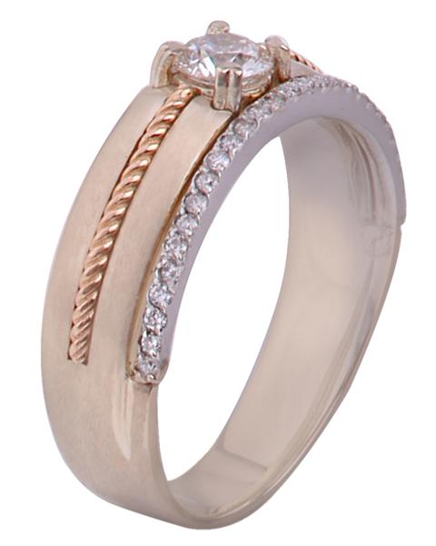 photo of rose gold wedding men ring
