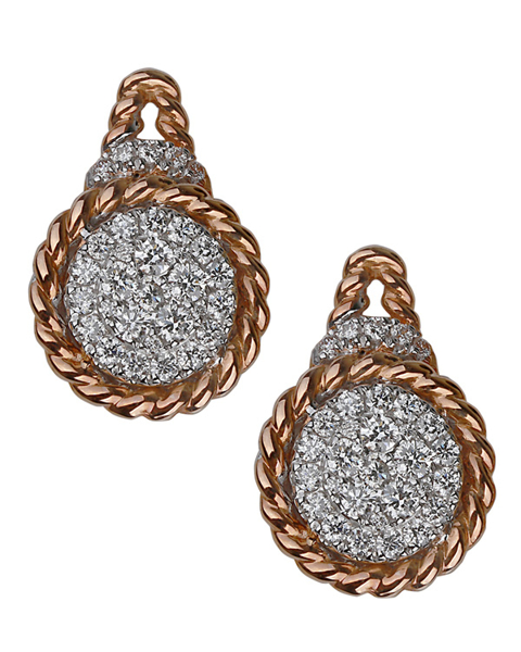photo of round cut diamond earrings