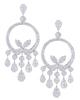 photo of round cut diamond earrings of half set