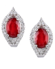 photo of ruby earrings
