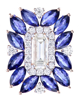 photo of sapphire & diamond pendant