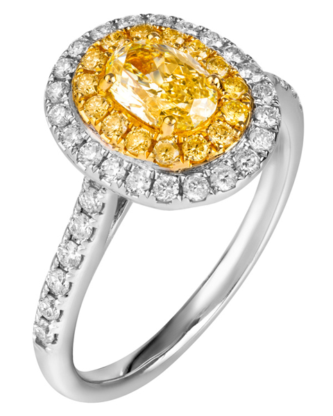 Photo of Yellow Diamond Ring