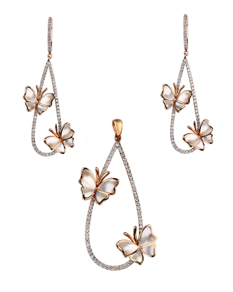 photo of shell butterfly half set