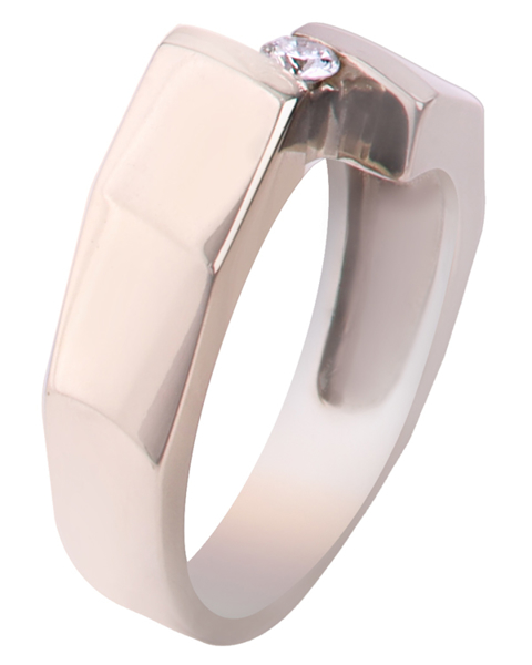 photo of solitaire men's ring
