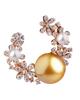 photo of white & golden pearl earrings