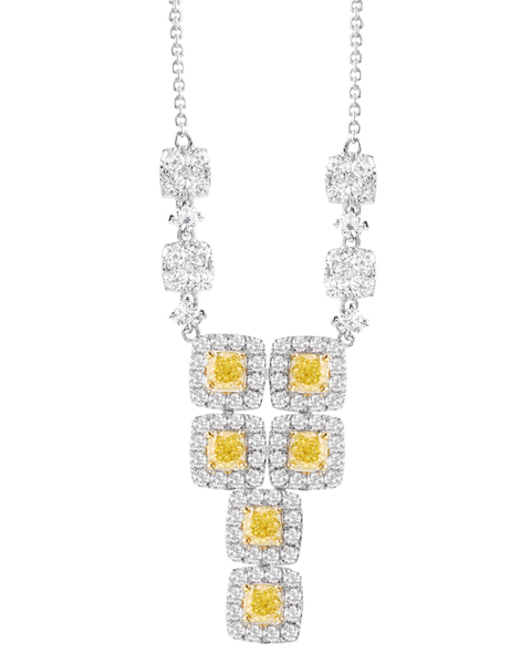 photo of yellow diamond pendant