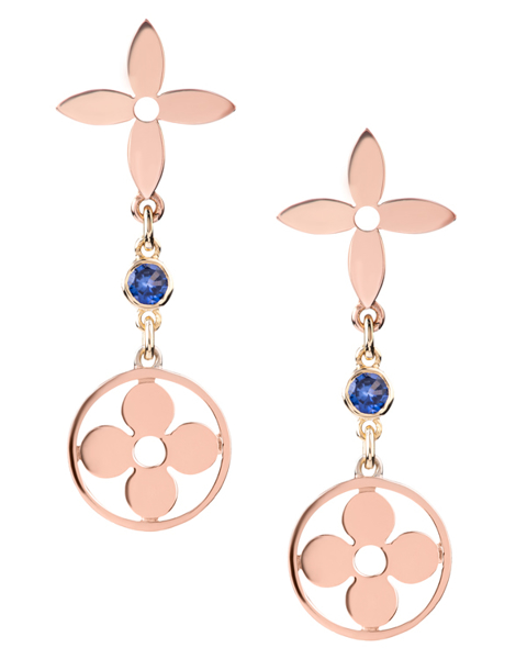 Photo of Rose gold flower earrings