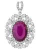 Ruby Diamond Pendant