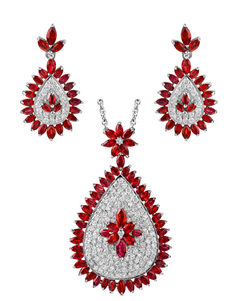 Photo of Ruby and Diamond Set