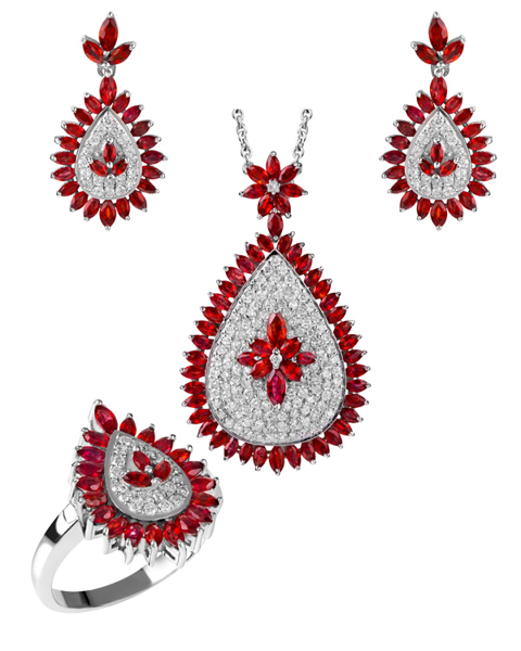 Photo of Ruby and Diamond Set