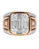 Men's yellow gold Baguette Cut Diamond Ring