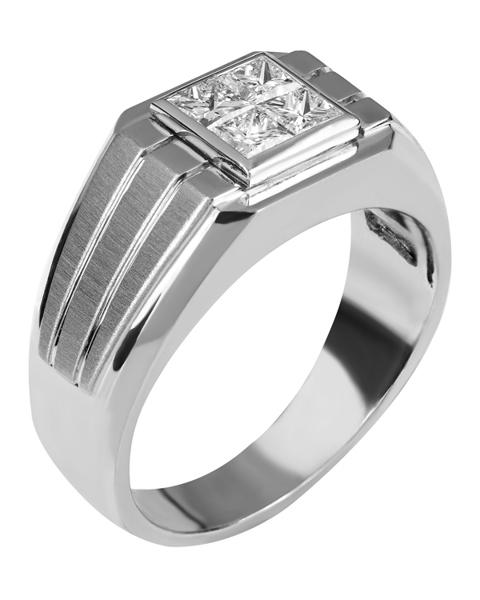 photo of men's platinum ring