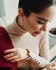 women ruby earrings