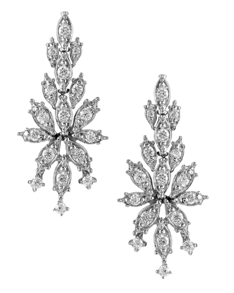 photo of brilliant diamond earrings
