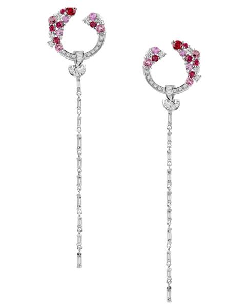 Women's Red Stone Earrings
