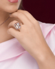 photo of white shell ring