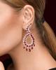 Photo of Women Pear cut Ruby Earrings