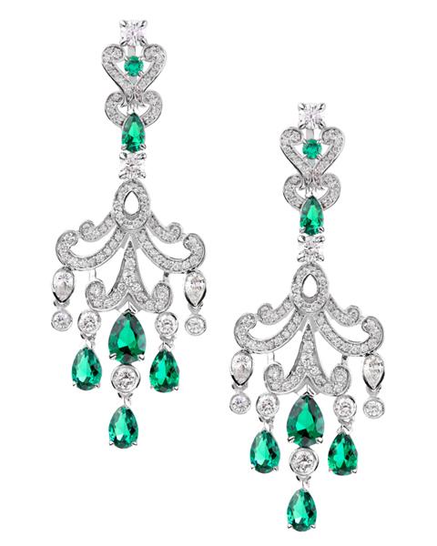 Emerald Jewellery Earrings