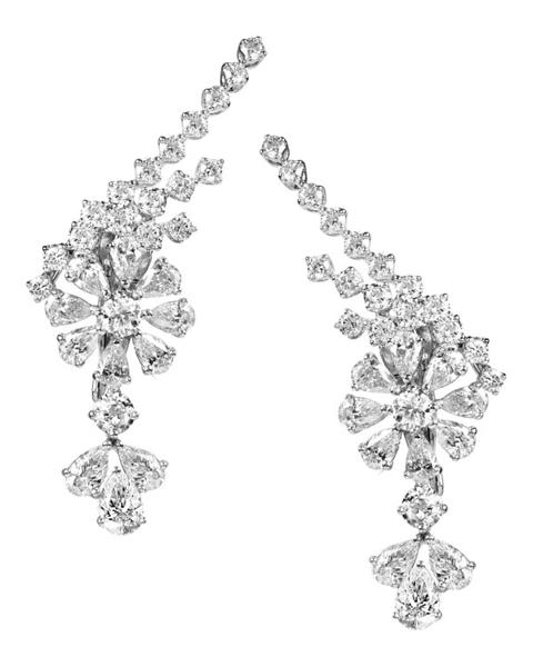 photo of pear cut diamond earrings