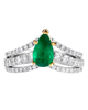 Photo of Pear Emerald Ring