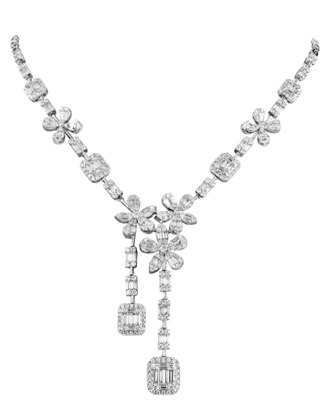Photo of Baguette Diamond Necklace