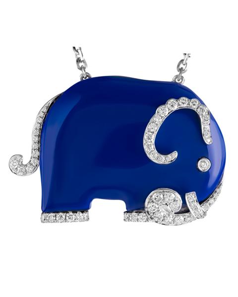 Photo of Lapis Lazuli Elephant Pendant