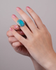 Photo of Turquoise and diamond ring